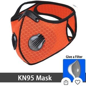 Respirator Mask Orange Activated Charcoal COVID-19